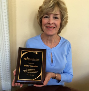 Libby Atwater with APH award