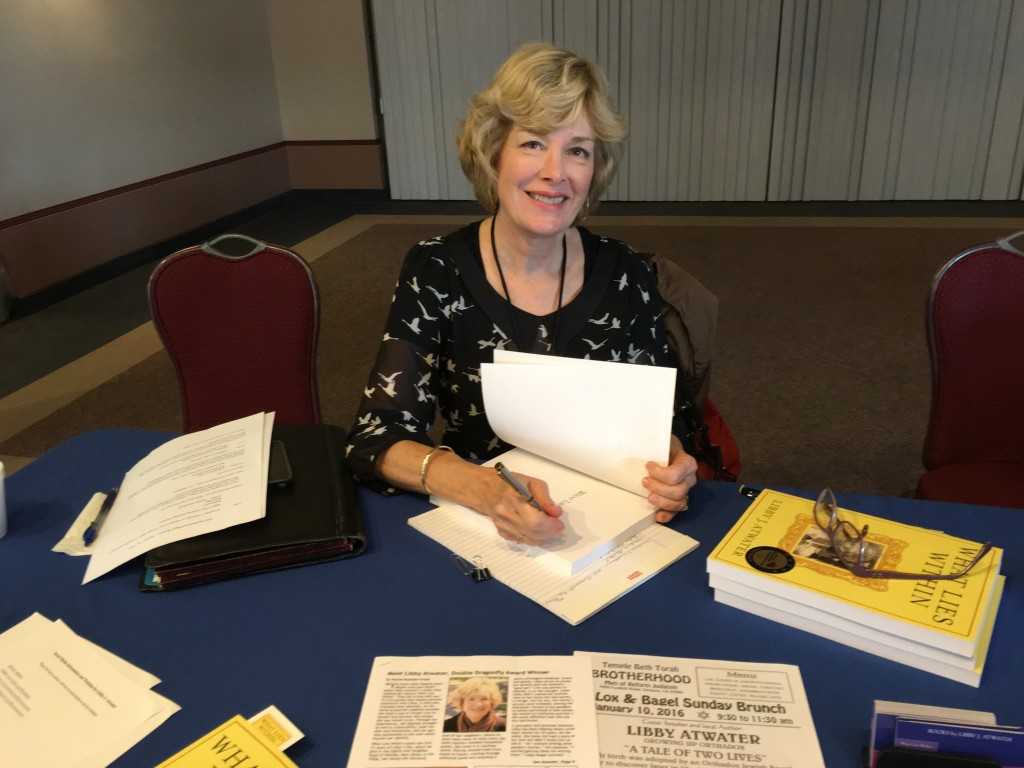 Book signing Libby Atwater Temple